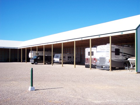 Covered  RV Storage